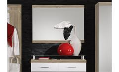 Wandspiegel Imperial 1 Garderobe Spiegel Eiche sonoma sägerau und weiß 110x80cm