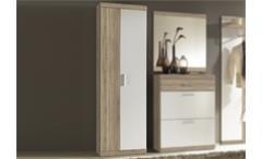 Garderobenschrank Imperial 2 Flur Schrank in Eiche Sonoma und weiß 60 cm breit