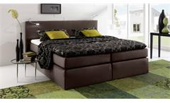 boxspringbett atlanta doppelbett in braun 180x200 cm. Black Bedroom Furniture Sets. Home Design Ideas