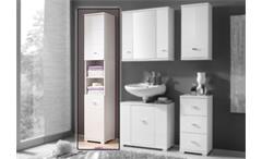 Hochschrank Badezimmer MORNING in weiß Hochglanz