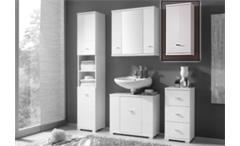 Hängeschrank Morning für Badezimmer in Weiß Hochglanz