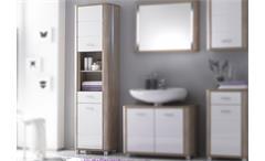 Schrank Vital Badezimmerschrank in Sonoma Eiche sägerau und weiß