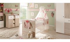 Babybett WIKI Kinderbett in Sonoma Eiche sägerau und weiß