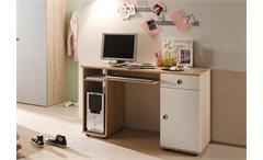 Schreibtisch Kinderzimmer Wiki Eiche Sonoma und weiß