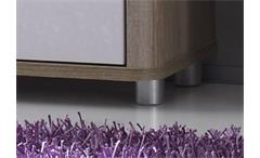 Waschbecken-Unterschrank Vital Bad Kommode Schrank in Sonoma Eiche & weiß