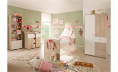 Babyzimmer Wiki 4-teiliges Set in Sonoma Eiche sägerau & Weiß
