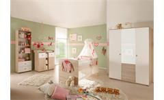 Babyzimmer WIKI 4-tlg Sonoma Eiche Sägerau und Weiß