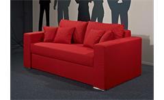 Schlafsofa DUO rot Schlaffunktion und Bettkasten 138x207 cm