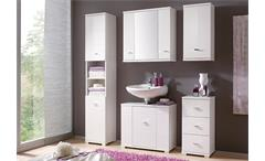 Badezimmer Morning in weiß und Hochglanz mit Spiegel 5-teilig