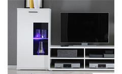 Wohnwand Frontal Anbauwand Wohnzimmer in weiß inklusive LED