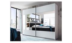 Schwebetürenschrank weiß Spiegel Penta 2-trg. Kleiderschrank Schlafzimmer 270 cm