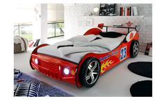 Autobett Energy MDF Kinderbett Jugendbett Bett rot lackiert inkl. Beleuchtung
