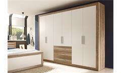 Kleiderschrank Bright Schlafzimmerschrank Schrank Canyon Oak 289 cm