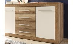 Sideboard Fernando Anrichte Kommode in Canyon Oak und Weiß 177 cm