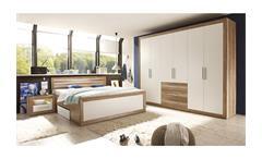 Schlafzimmer FERNANDO Canyon Oak weiß LED
