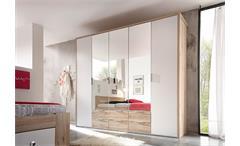 Kleiderschrank Connie Schlafzimmerschrank Schrank San Remo und weiß 230 cm