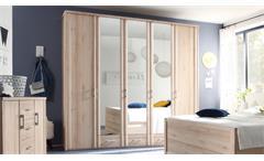 Kleiderschrank Classic Schrank Drehtürenschrank mit Spiegel 240 cm