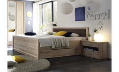 Bettanlage Classic Bett Nachtkommode in Buche mit Schubkästen 180x200