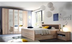 Schlafzimmer Buche Doppelbett  Kleiderschrank 5-türig Nachtkommoden Classic