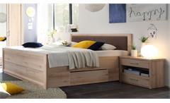Schlafzimmerset Classic Schlafzimmer Bett Schrank Nako in Buche