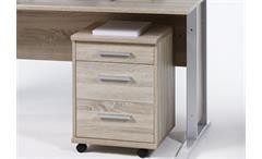 Schreibtisch mit Rollcontainer Office Line Biz Sonoma Eiche Breite 150 cm