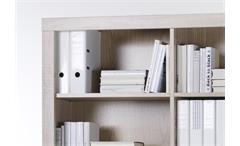 Regal Cube 10 Sideboard Büro Schrank weiß und Sonoma Eiche mit Schubkästen