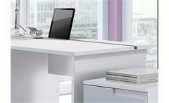 Schreibtisch Spice Bürotisch Laptoptisch Tisch in MDF weiß Hochglanz 120 cm