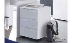 Rollcontainer Spice Bürocontainer Rollschrank Rollwagen in MDF weiß Hochglanz
