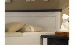 Bettanlage Luca Bett in Pinie weiß und Touchwood 180x200 inkl. Nachtkommode