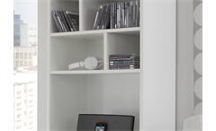 Standregal Colori Bücherregal Regal weiß und Glas blau grau mit 6 Fächern