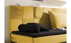 Boxspringbett Kid Poket Bett Kinderbett in schwarz und gelb mit Topper 90x200