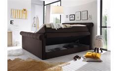 Boxspringbett 3 California Schlafzimmerbett Bett braun Topper Bettkasten 180x200