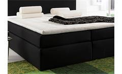 Boxspringbett Santa Barbara Bett Doppelbett in schwarz inkl. Topper 140