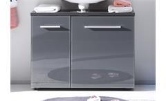 Waschbeckenunterschrank GREY Badezimmer Schrank grau ohne Becken