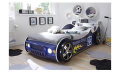 Autobett Energy Kinderbett Bett Kinderzimmerbett blau lackiert inkl. Beleuchtung
