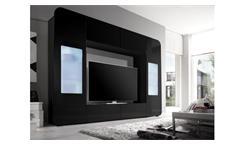 Mediawand KINO 2 Wohnwand schwarz Hochglanz TV bis 60 Zoll