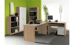 Büroset Office COMPACT Büroprogramm Büro in Sonoma Eiche