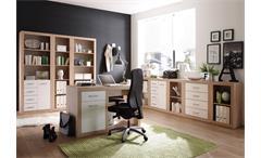 Schrank 1 Can Can Aktenschrank Büroschrank in San Remo Eiche und weiß