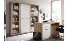 Büroset Can Can Büroprogramm Schrank Regal Schreibtisch San Remo Eiche und weiß