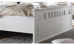 Bett Emma Schlafzimmerbett Doppelbett in Kiefer teilmassiv weiß 180x200