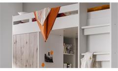 Etagenbett Maxi Kinderbett Hochbett Kinderzimmerbett Bett weiß Sandeiche 90x200