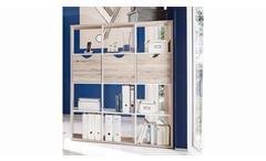 Raumteiler Quadros Regal in Sandeiche Weiß 12 Fächer inkl. Körbe