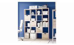 Raumteiler Quadros 4/5 Regal Büro sandeiche und weiß inkl. Körbe