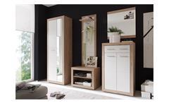 Garderobe Can Can 5 Spiegel Flurmöbel Dielenmöbel in Sonoma Eiche weiß 5 -teilig