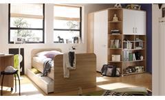 Jugendzimmer 2-teilig Corner Eckkleiderschrank Jugendbett 90x200 Sonoma Eiche