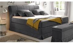 Boxspringbett Carson 1 Bett Schlafzimmerbett in anthrazit mit Topper 180x200