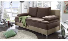 Schlafsofa Svenja Sofa Bettsofa Couch in braun und beige  mit Bettkasten