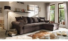 Ecksofa CANYON Wohnlandschaft Sofa braun schwarzbraun Funktion