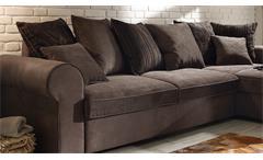 Ecksofa Canyon Wohnlandschaft Sofa Polstermöbel in braun schwarzbraun Funktion