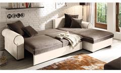 Ecksofa Canyon Wohnlandschaft Sofa Polstermöbel in beige schwarzbraun Funktion